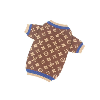 LV Brown Drip Sweater 2020