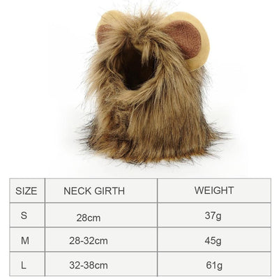Lion King Mane Halloween Wig costume for Pets
