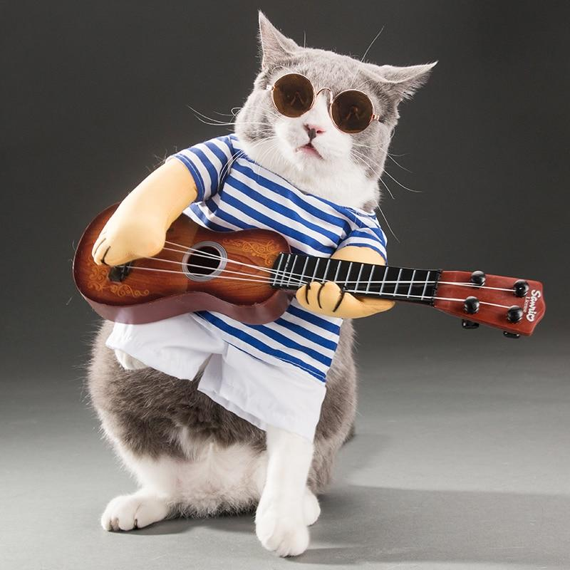 Hippy Pet Guitar Player Halloween Costume
