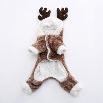 Winter Elk Christmas Costume for Dogs