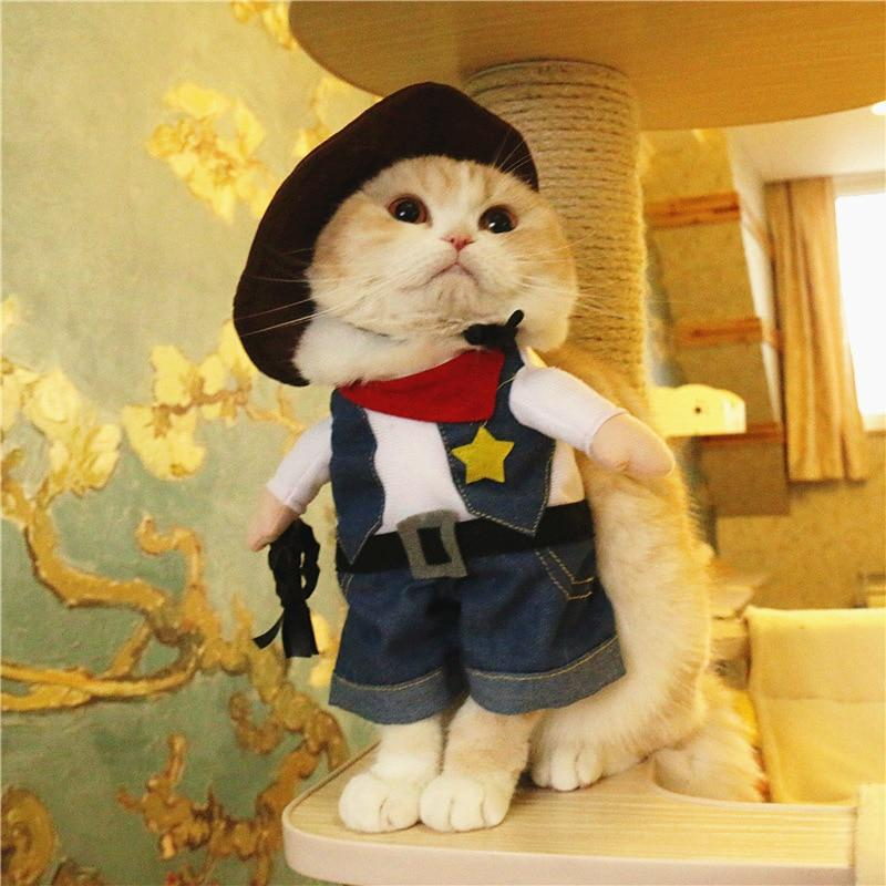 Wild West Cowboy Cosplay Halloween Costume for Dogs or cats