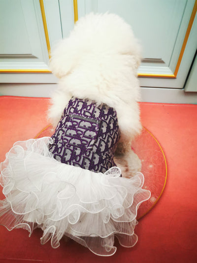 D Luxury Ballet Handmade Wedding Dog Dress