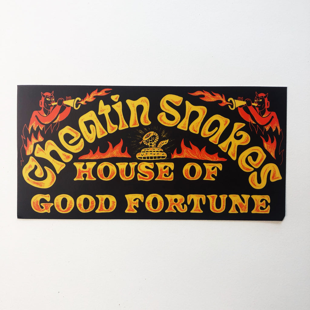 House of good fortune bumper sticker