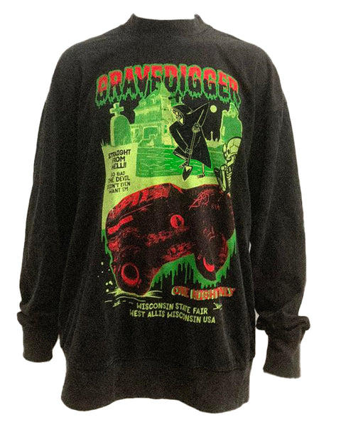 Gravedigger Mock Neck Long Sleeve T-shirt