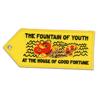 FOUNTAIN OF YOUTH EMBROIDERED KEYCHAIN