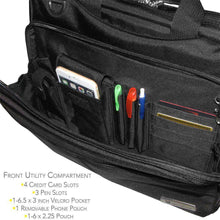 Load image into Gallery viewer, Carry On Laptop Bag with Shoulder Strap - Black