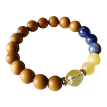 Load image into Gallery viewer, Citrine, Yellow Calcite, Sodalite & Sandalwood