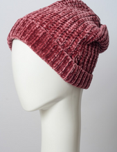 Load image into Gallery viewer, Soft Berry Chenille Beanie