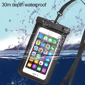Universal Waterproof Transparent Pouch Glows in Dark Dry Bag With