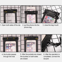 Load image into Gallery viewer, Universal Waterproof Transparent Pouch Glows in Dark Dry Bag With