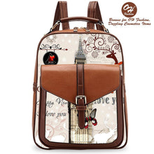 Load image into Gallery viewer, OH Fashion Handbag Backpack European Dream London