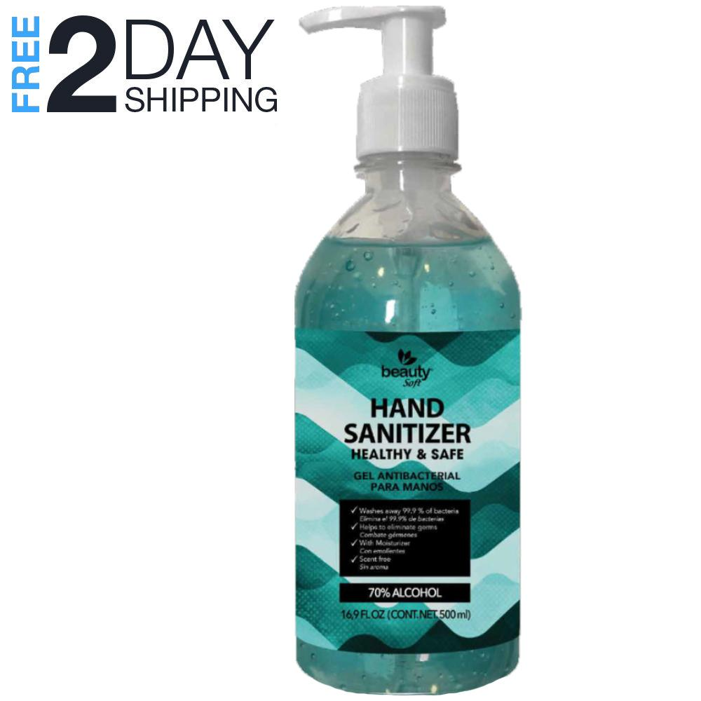 Hand Sanitizer with Pump 16.09 oz FDA Approved Antibacterial Gel 70%