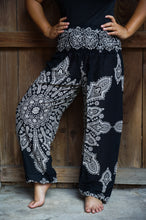 Load image into Gallery viewer, Black Harem Pants, Hippie Pants, Boho Pants