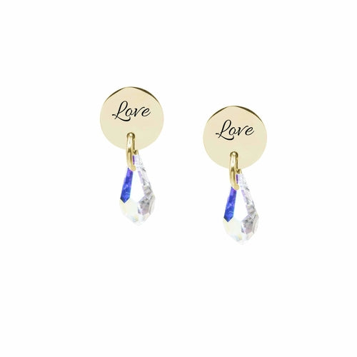 Swarovski Stud Earrings - Love