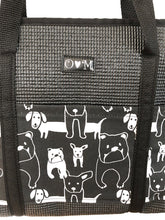 Load image into Gallery viewer, Molly Black Dog Print Tote Bag