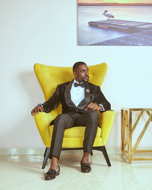 Ghanaian actor Mawuli Gavor in a KochHouse suit
