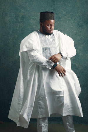 All White Agbada - KochHouse