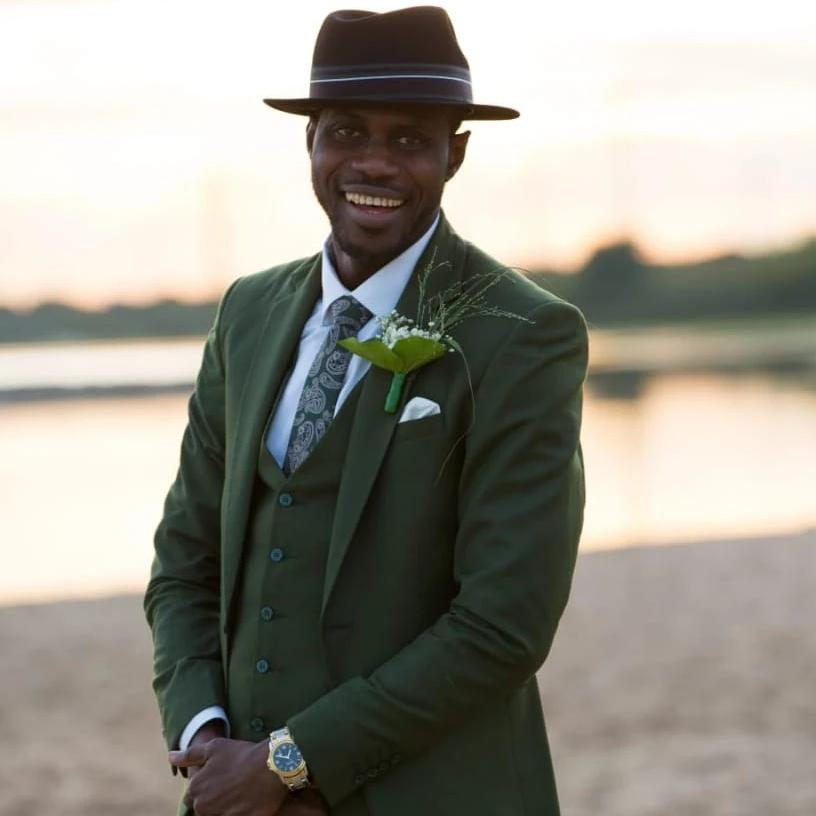 Olive Green 3-piece Suit | KochHouse