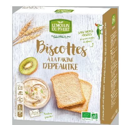 Biscottes Epeautre 270g Pivert