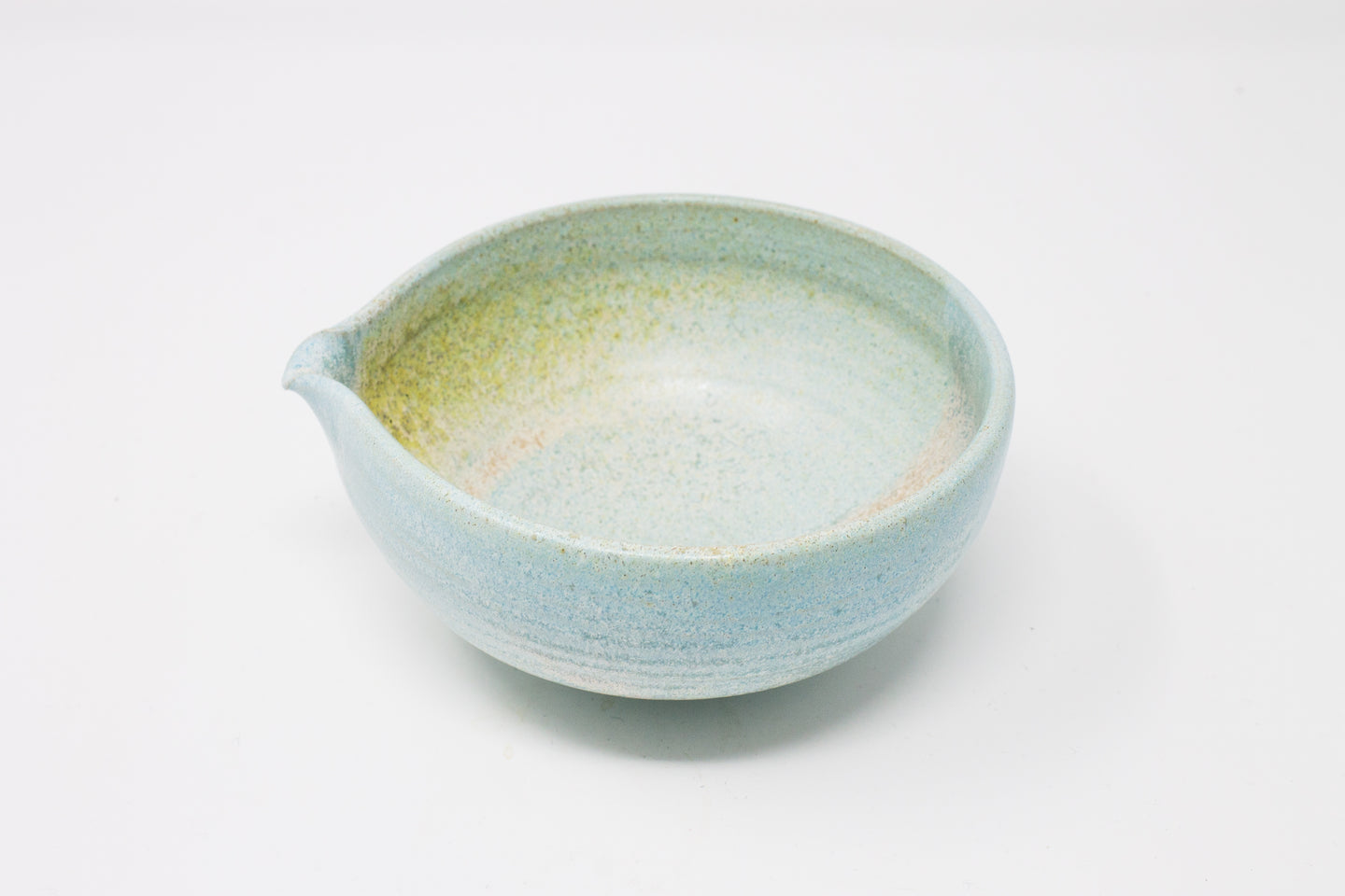 Matcha Bowl with a Spout in various glazes