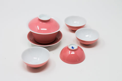 Gaiwan Set thin porcelain tasting set, various colours