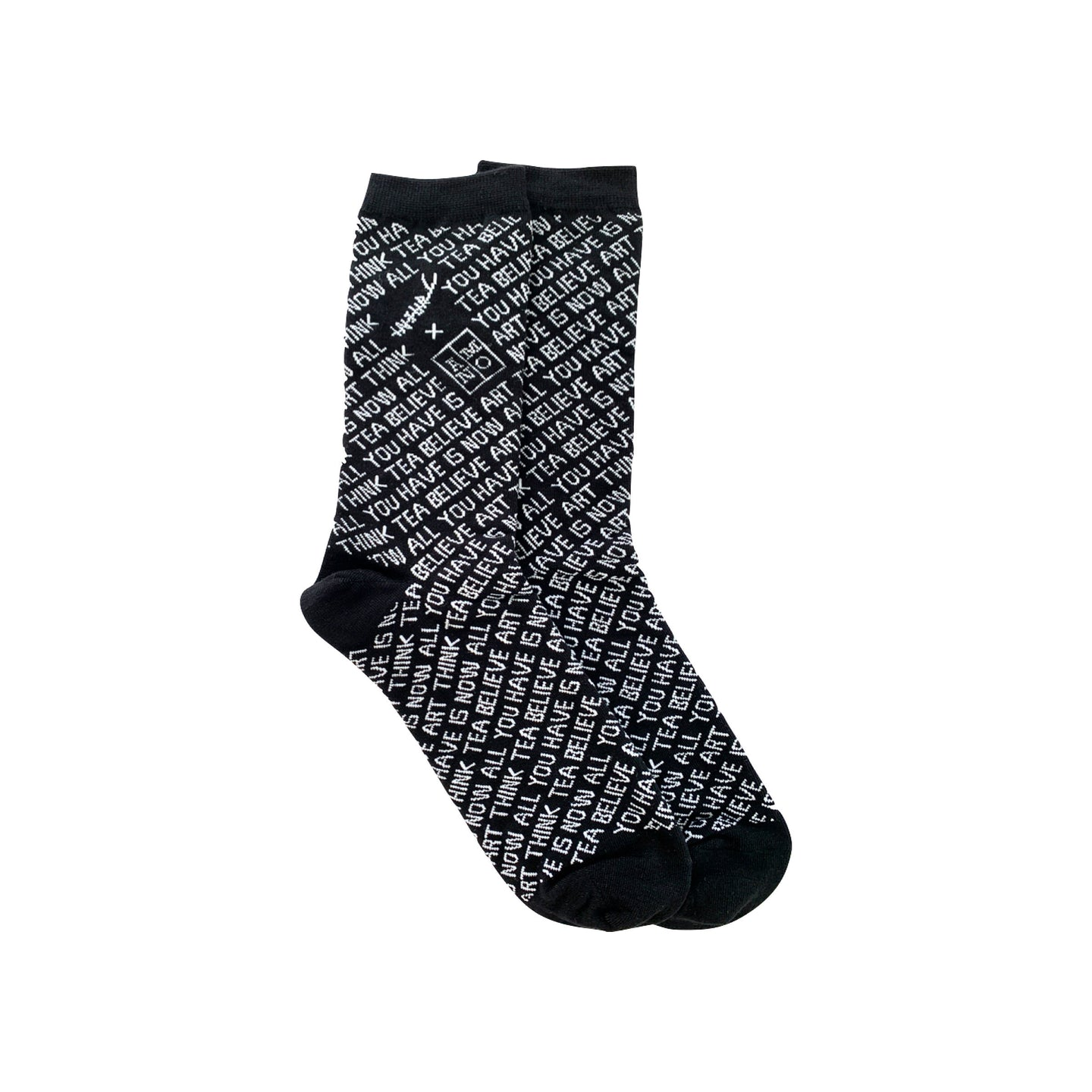 The INJURY x ANMO socks black