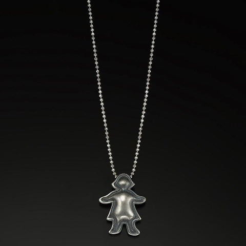 Girl pendant necklace