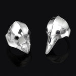 Masks - Mask ring with black stone