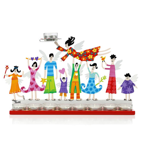 Hanukkah Menorah Family Menorah  - Multicolor - Tzuki Studio