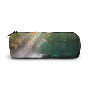Elegant Zipper Pen Case,Glasses Case,Cosmetic Case,Easy to Carry,Both Men and Women,Forest Sunshine