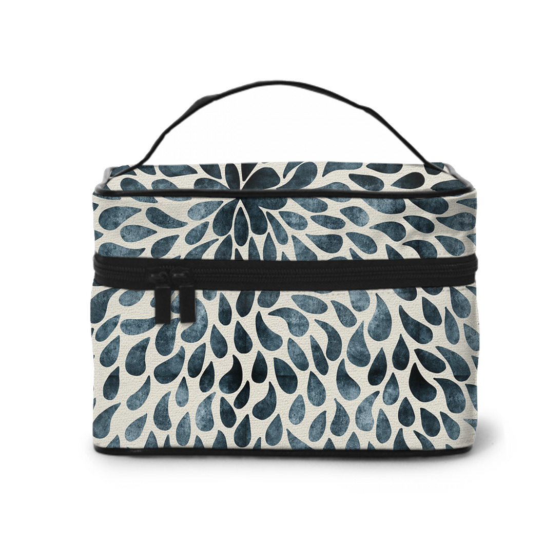 Large Capacity Cosmetic Case Cosmetic Bag, Travel Bag, Handbag, Toiletry Storage Bag,Simple Water Drop Pattern