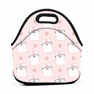 Pink Cat Fresh-keeping Shopping Bag Lunch Bag Heat Preservation Lunch Bag Go To Work School Food Bag