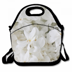 Blooming Lilac Unisex Lunch Bag With Detachable Zippered Shoulder Bag