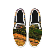 Load image into Gallery viewer, Womens Mens Sneaker Canvas Loafers,Flat Shoes,Unisex Art Sneaker,Terraced Landscape Photo
