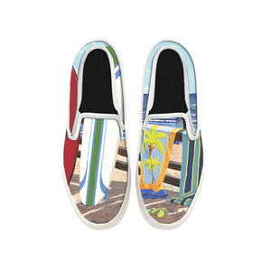 Womens Mens Sneaker Canvas Loafers,Flat Shoes,Unisex Art Sneaker,Beach Surfing Photos