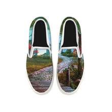 Load image into Gallery viewer, Womens Mens Sneaker Canvas Loafers,Flat Shoes,Unisex Art Sneaker,Winding Path