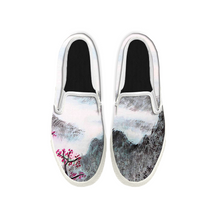 Load image into Gallery viewer, Womens Mens Sneaker Canvas Loafers,Flat Shoes,Unisex Art Sneaker,Ink Landscape Painting