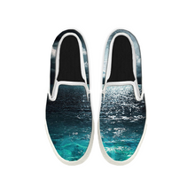Load image into Gallery viewer, Womens Mens Sneaker Canvas Loafers,Flat Shoes,Unisex Art Sneaker,The Sparkling Sea