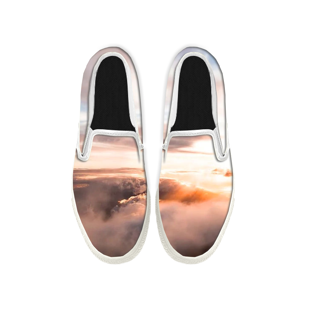 Womens Mens Sneaker Canvas Loafers,Flat Shoes,Unisex Art Sneaker,The Sea of Clouds