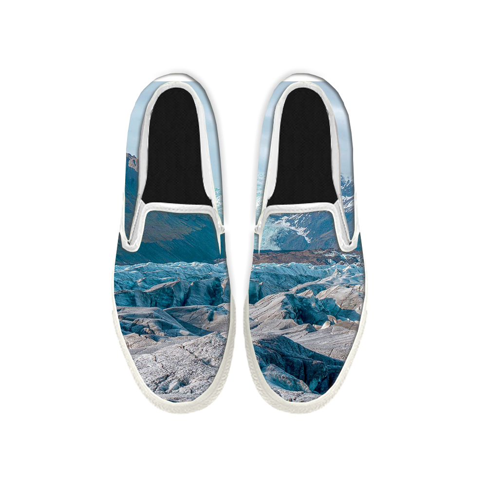 Womens Mens Sneaker Canvas Loafers,Flat Shoes,Unisex Art Sneaker,The Peak of The Snow Mountain