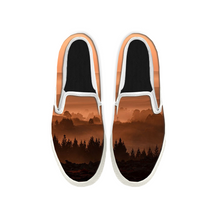 Load image into Gallery viewer, Womens Mens Sneaker Canvas Loafers,Flat Shoes,Unisex Art Sneaker,Ink and Wash