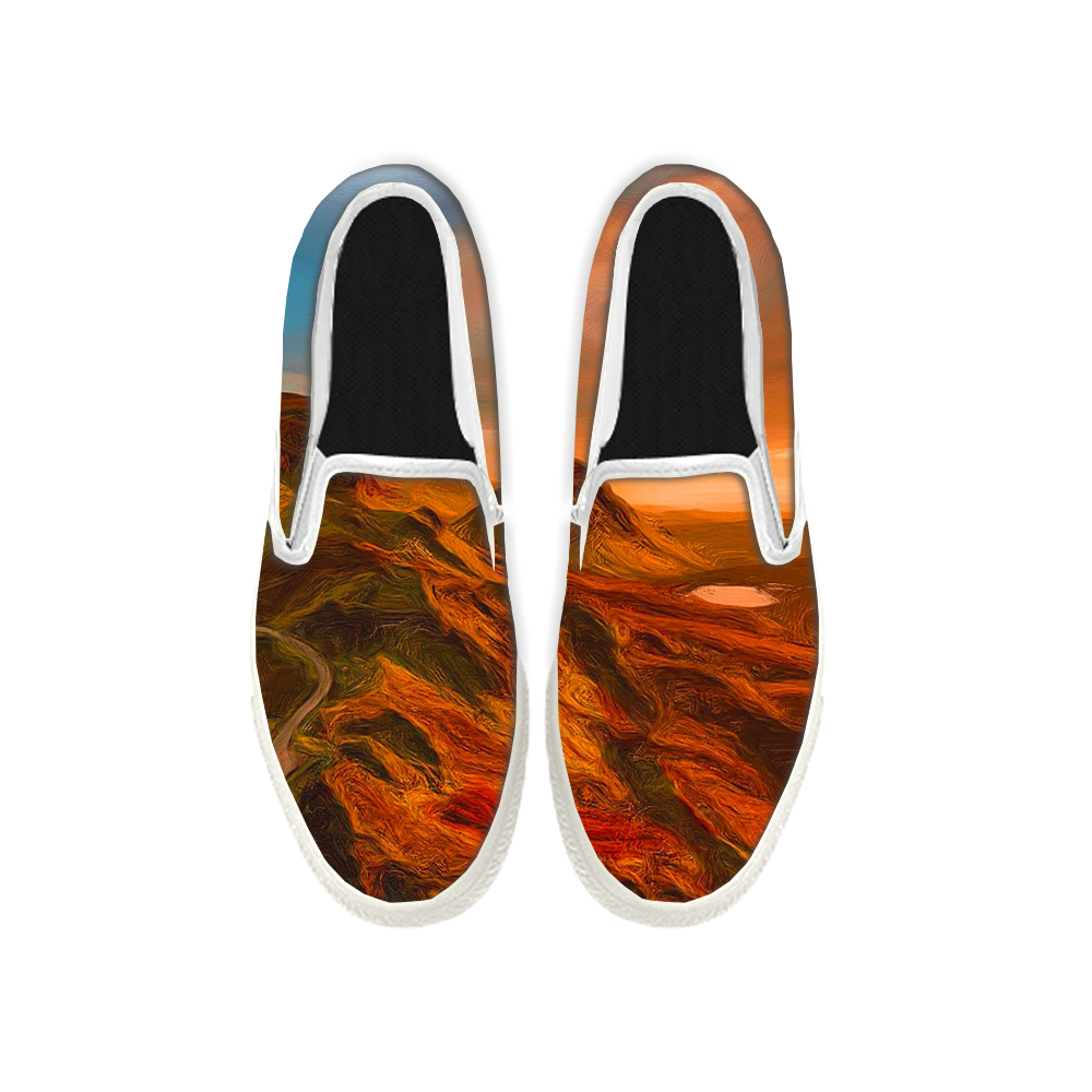 Womens Mens Sneaker Canvas Loafers,Flat Shoes,Unisex Art Sneaker,The Beautiful Mountains and Rivers