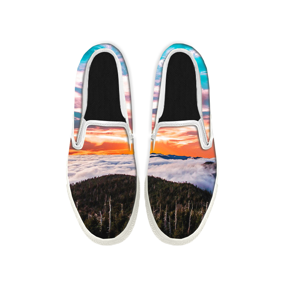Womens Mens Sneaker Canvas Loafers,Flat Shoes,Unisex Art Sneaker,The Beautiful Snow