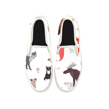 Load image into Gallery viewer, Womens Mens Sneaker Canvas Loafers,Flat Shoes,Unisex Art Sneaker,A Party Of Small Animals