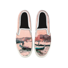 Load image into Gallery viewer, Womens Mens Sneaker Canvas Loafers,Flat Shoes,Unisex Art Sneaker,Beach Combing Painting