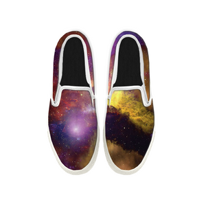 Womens Mens Sneaker Canvas Loafers,Flat Shoes,Unisex Art Sneaker,Under The Stars and Moon