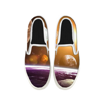 Load image into Gallery viewer, Womens Mens Sneaker Canvas Loafers,Flat Shoes,Unisex Art Sneaker,Moon and Splendour