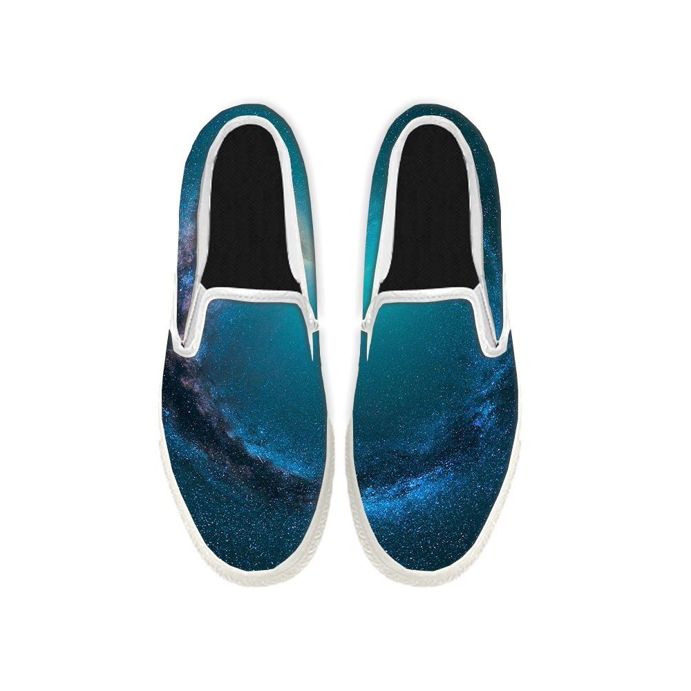 Womens Mens Sneaker Canvas Loafers,Flat Shoes,Unisex Art Sneaker,The Stars Are Shining