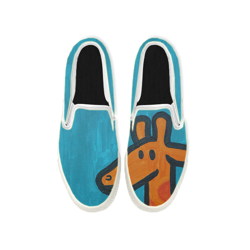 Womens Mens Sneaker Canvas Loafers,Flat Shoes,Unisex Art Sneaker,The Lovely Deer