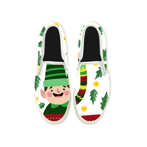 Womens Mens Sneaker Canvas Loafers,Flat Shoes,Unisex Art Sneaker,Little Green Men
